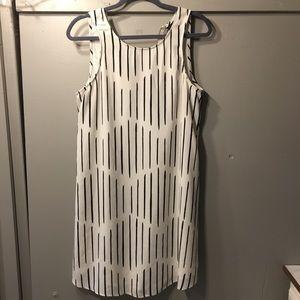 Striped white dress